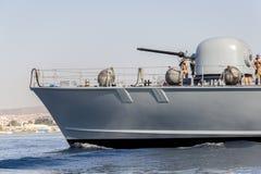 Карамболь немецкого быстроходного катера военно-морского флота Стоковые Фотографии RF