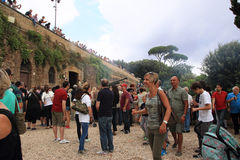 Карамболь холма Janiculum в Риме Стоковая Фотография RF