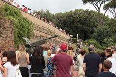 Карамболь холма Janiculum в Риме Стоковая Фотография