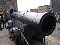 Карамболь Mons meg или средневековое оружие в замке Эдинбурга Стоковая Фотография