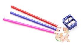 Карандаши группы красочные стоковое изображение