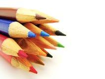 карандаши группы цвета стоковые фотографии rf