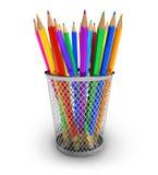 карандаши держателя цвета бесплатная иллюстрация
