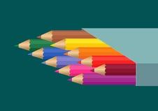 карандаши коробки Стоковые Изображения