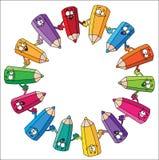 карандаши круга бесплатная иллюстрация