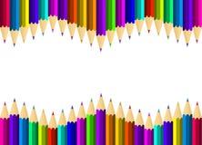 карандаши покрашенные ассортиментом Стоковое фото RF