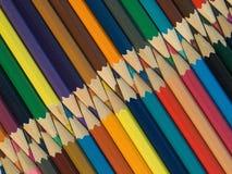 карандаши покрашенные ассортиментом Стоковая Фотография