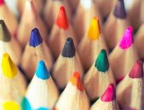 карандаши покрашенные крупным планом Стоковое Изображение RF
