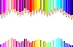 карандаши покрашенные предпосылкой Стоковое Изображение