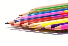 карандаши предпосылки изолированные цветом Стоковое Изображение