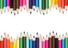карандаши предпосылки цветастые белые Стоковые Изображения RF