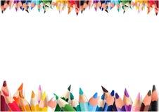 карандаши предпосылки цветастые белые Стоковая Фотография