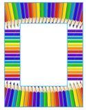 карандаши рамки иллюстрация вектора