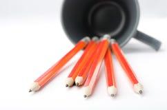 карандаши руководства чашки Стоковые Фотографии RF