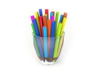 карандаши стекла расцветки иллюстрация штока