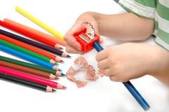 карандаши точат Стоковая Фотография