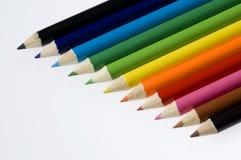 карандаши формы цвета раскосные Стоковое Изображение RF