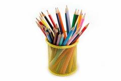 Карандаши цвета изолированные на белизне. Стоковые Фото