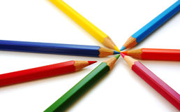 карандаши цвета различные Стоковое фото RF