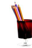 карандаши чашки Стоковая Фотография