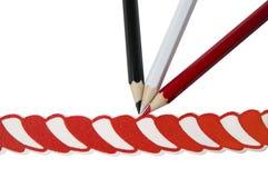 карандаши 3 украшения бумажные Стоковые Изображения RF
