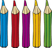 карандаши crayons Стоковое фото RF