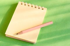 карандаш блокнота стоковые изображения rf