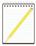 карандаш блокнота иллюстрация штока