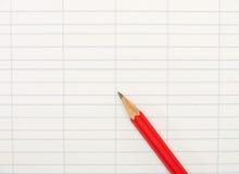 карандаш бумаги счетоводства предпосылки Стоковые Изображения RF