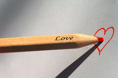 карандаш влюбленности Стоковые Фотографии RF