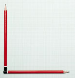 карандаш диаграммы оси Стоковая Фотография RF