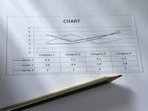 карандаш диаграммы Стоковые Изображения