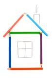 карандаш дома Стоковые Изображения