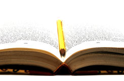 карандаш книги Стоковые Фото