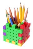 карандаш коробки стоковые фотографии rf