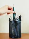 карандаш пер контейнера Стоковая Фотография RF
