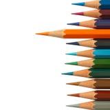 карандаш померанца руководства цвета Стоковые Фотографии RF