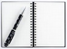 карандаш примечания книги открытый Стоковое фото RF