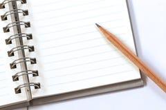 карандаш примечания книги Стоковые Фото