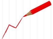карандаш притяжки диаграммы Стоковые Фото