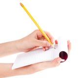 карандаш руки Стоковое Изображение RF