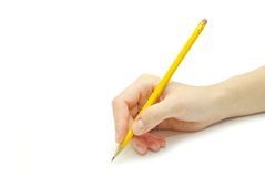 карандаш руки Стоковые Изображения RF
