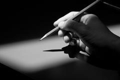 карандаш руки Стоковые Фотографии RF