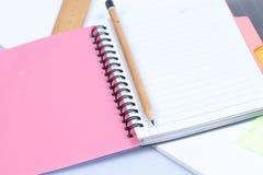 карандаш тетради Стоковое Изображение RF