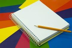карандаш тетради Стоковое Изображение
