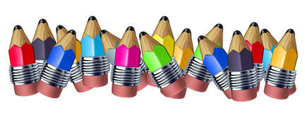 карандаш цвета граници иллюстрация вектора