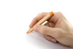 карандаш человека руки Стоковое Фото