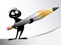 карандаш человека Стоковое Фото