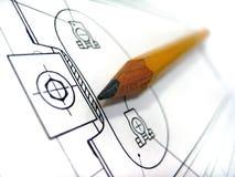 карандаш чертежа Стоковое фото RF