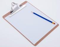 карандаш clipboard Стоковые Изображения